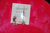 Orecchini earrings TORRE EIFFEL 3D SILVER!PARIS,CHARMS,CIONDOLI,GIRL,KITCH,DOLL!