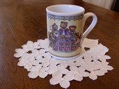tazza mug porcellana dipinta a mano