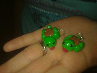 orecchini tartarughe