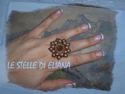 anello Fiore gold