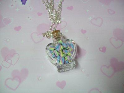 Marshmallow in a heart jar