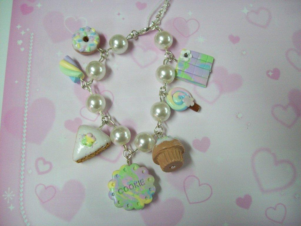 Multicolor multicharms bracelet-7pendants