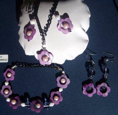 set fiore viola
