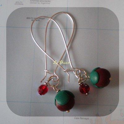 RASPBERRY BUSH earrings