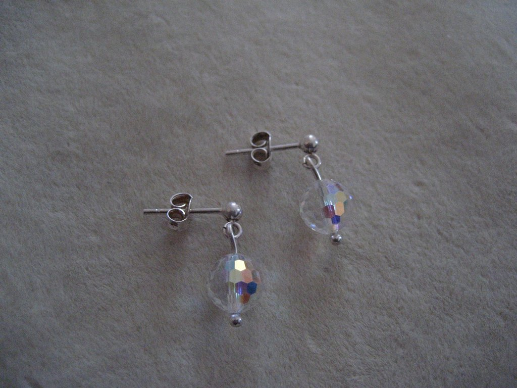 crystal ab multisfaccettato silver