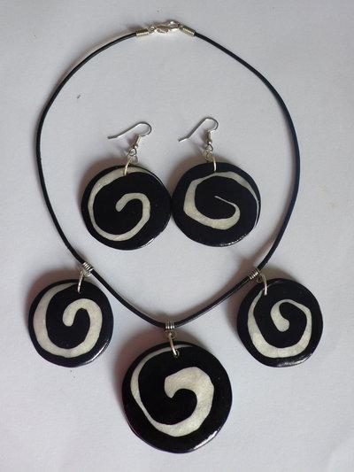 Parure Dischi Black & White