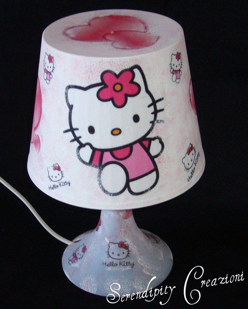 Lampada Abat-Jour Hello Kitty