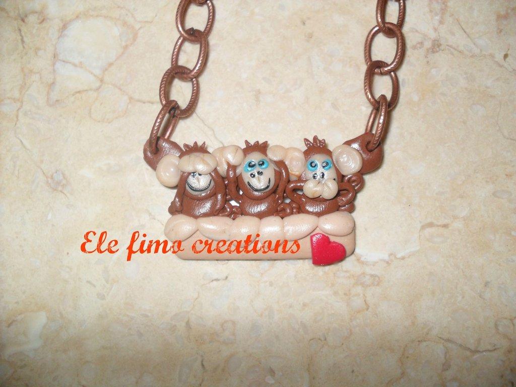 Collana scimmiette
