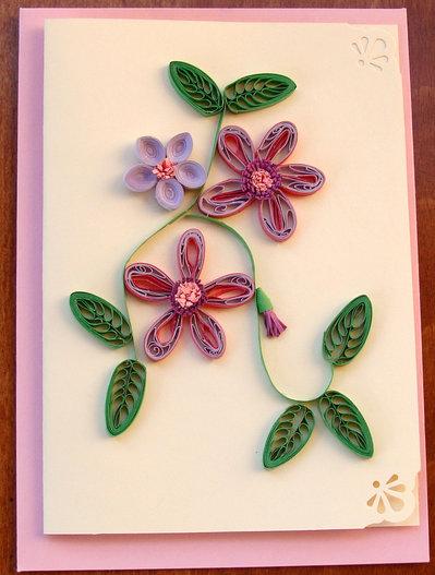 Biglietto d'auguri-bouquet di fiori