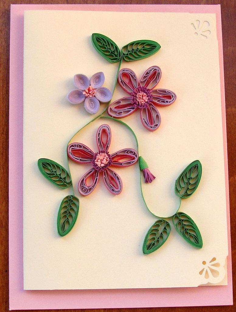 Estremamente Biglietto d'auguri-bouquet di fiori - Feste - Biglietti e inviti  ID41