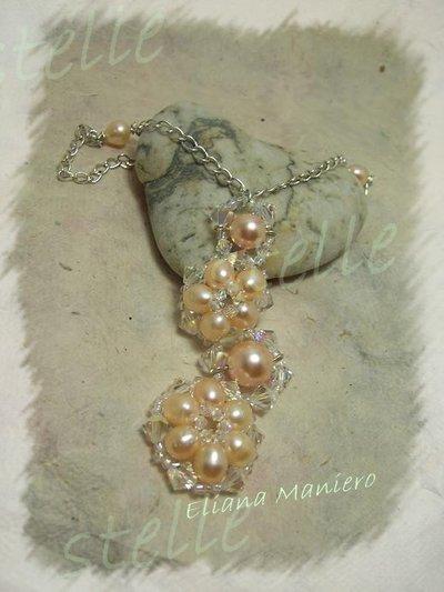 Ciondolo fiori di perle