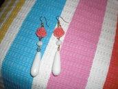 orecchini rosa corallo