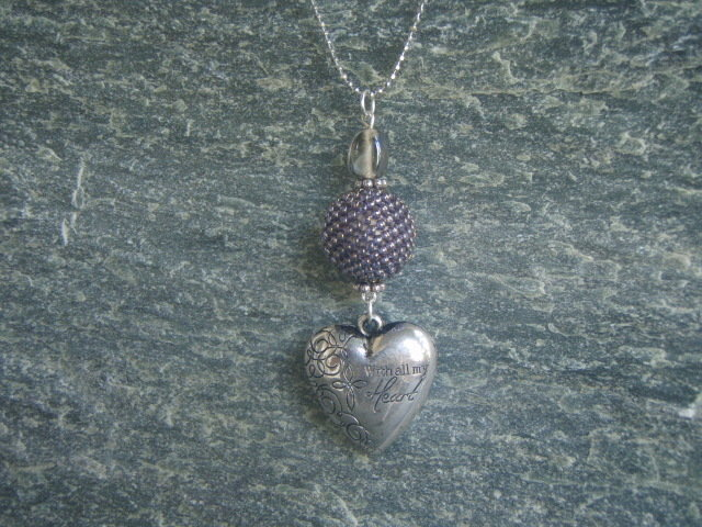 CIONDOLO CUORE BEADED BEAD