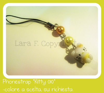 "PhoneStrap ""Yellow Kitty"""