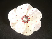 Mollettina a fiore in stoffa