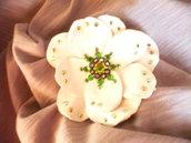 Mollettina a fiore in pelle