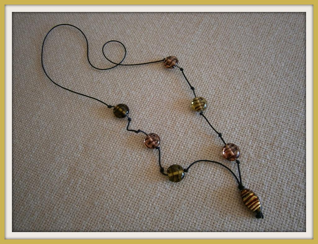 Collana perle in vetro
