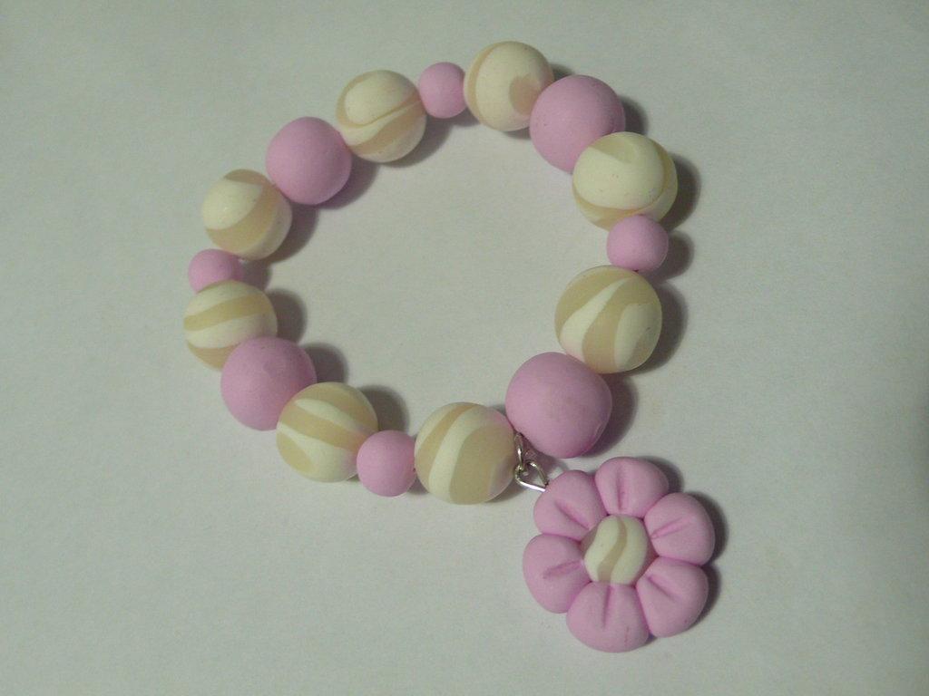 Bracciale Pinky White
