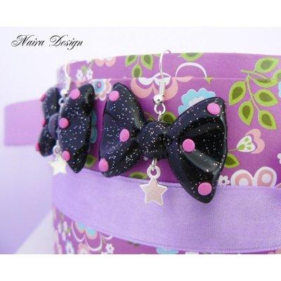 Orecchini Fiocco Pink