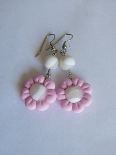 Orecchini Pinky White