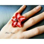 Anello Fiore Papavero