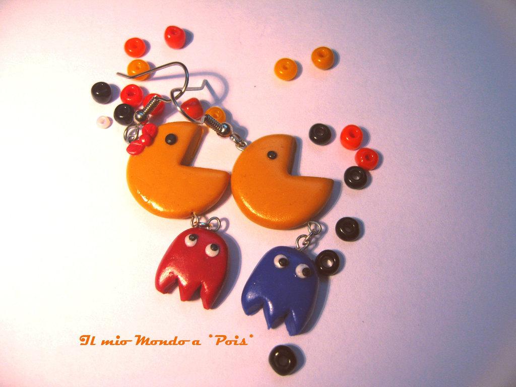 PacMan Earrings