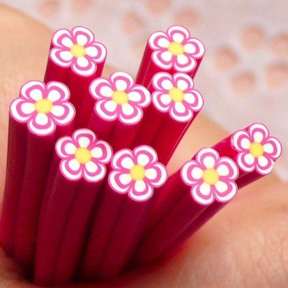 Canes in Fimo - Fiore Rosa
