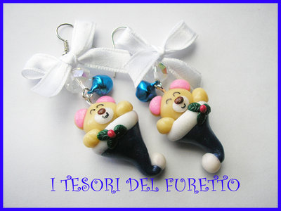 Orecchini Natale Natalizi ORSETTO  Fucucù Idea regalo