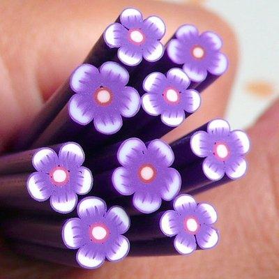 Canes di Fimo - Fiore Viola