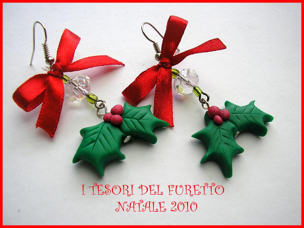 Orecchini Natale Serie FufuClassic Agrifoglio