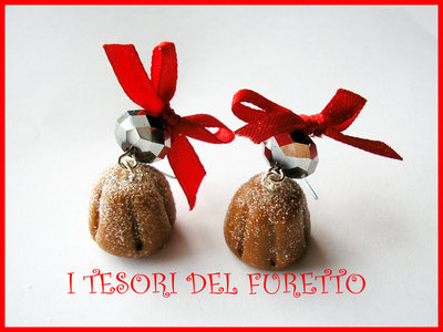 orecchini Natale Fufuclassic Pandoro kawaii