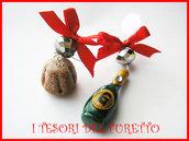 Orecchini Natale Fufuclassic Pandoro spumante Kawaii
