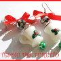 Orecchini Natale Fufuclassic tazze di cioccolata