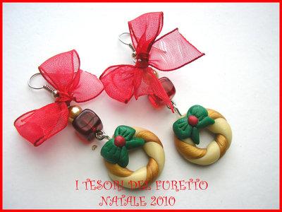 orecchini Natale Ghirlanda Fufuclassic Idea regalo