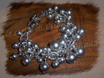 bracciale Light grey perles