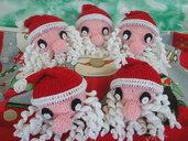 Testa di Babbo Natale ad uncinetto