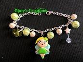 braccialetto trilly in fimo con perle