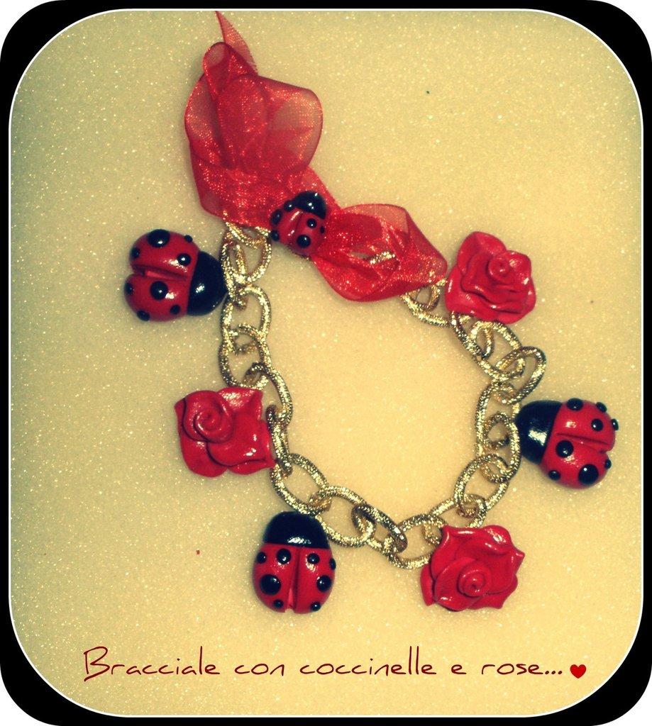 bracciale coccinelle & rose