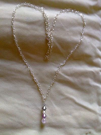 collana  con pendente swarovski A007