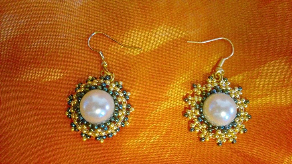 orecchini perla con brick stick