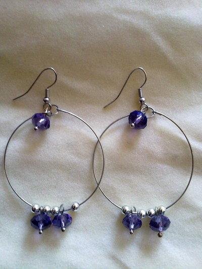 orecchini con cristalli B018