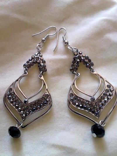 orecchini con strass B019