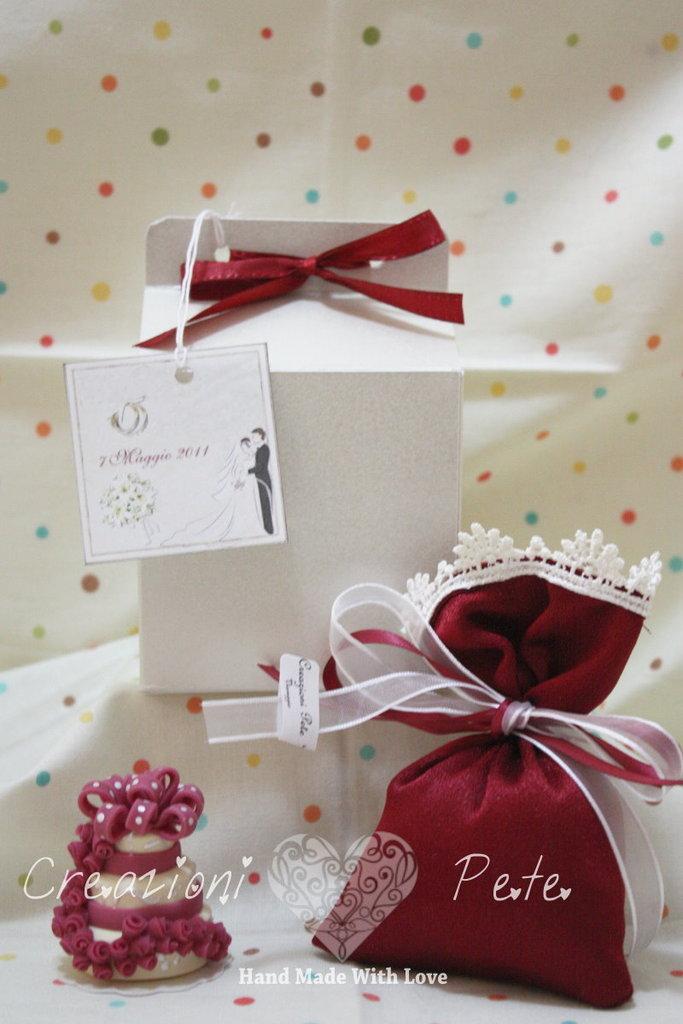 Bomboniera segnaposto Mini Wedding Cake