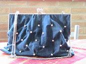 borsa jeans con perle