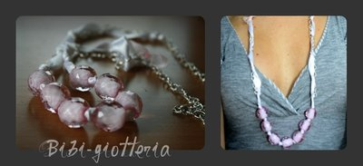 Collana perle rosa