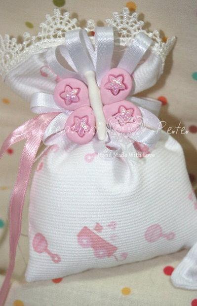 Bomboniera battesimo nascita bimbo bimba farfallina