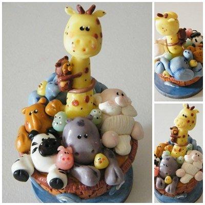 Arca di Noe  in Porcellana Fredda