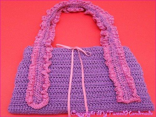borsa crochet lilla