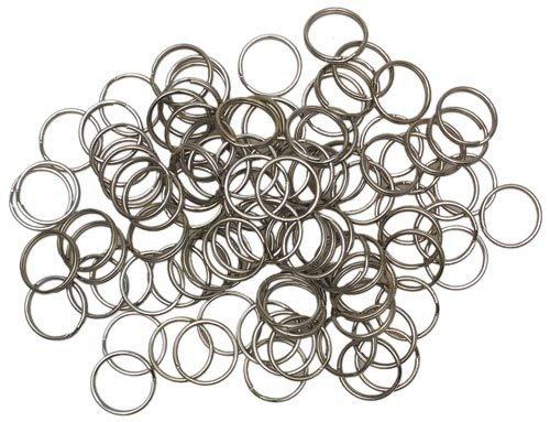 Lotto 30 pezzi anelli anello portachiave colore argento