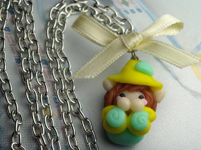 COLLANA ELFO gnomo elfetto folletto kawaii handmade idea regalo